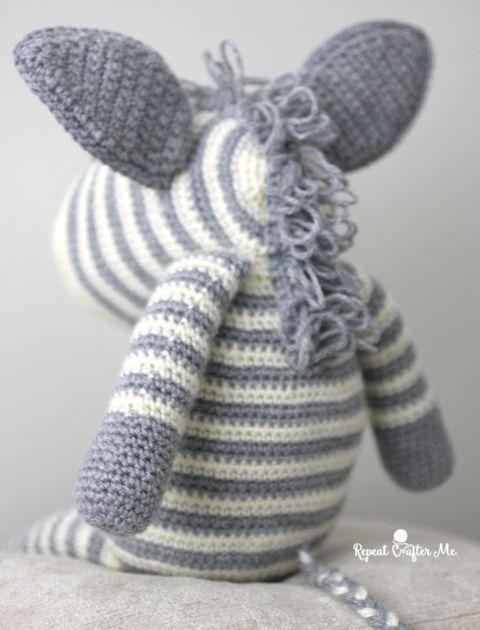 Crochet Zebra based on Yarnspirations Knit Zebra