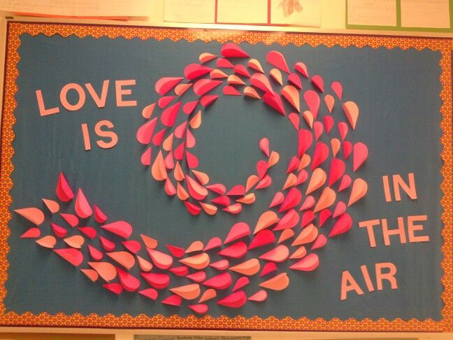 Valentine S Day Bulletin Board I Did For My Daughter S 3rd Grade