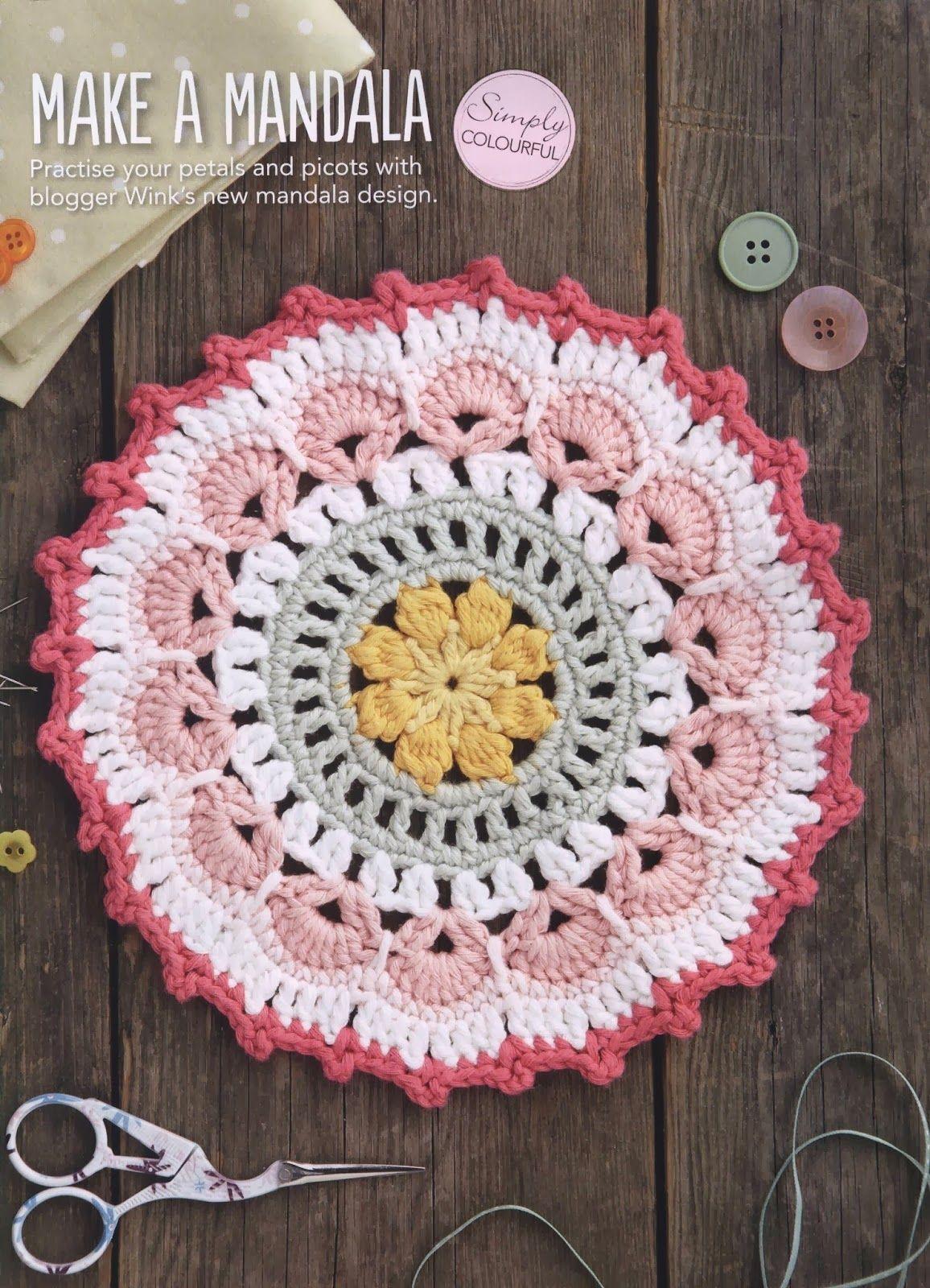 Petals And Picot Mandala Crochet Cerchi Alluncinetto Uncinetto