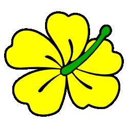 Yellow Hibiscus Flower Hibiscus Clip Art Yellow Hibiscus Flower Clipart