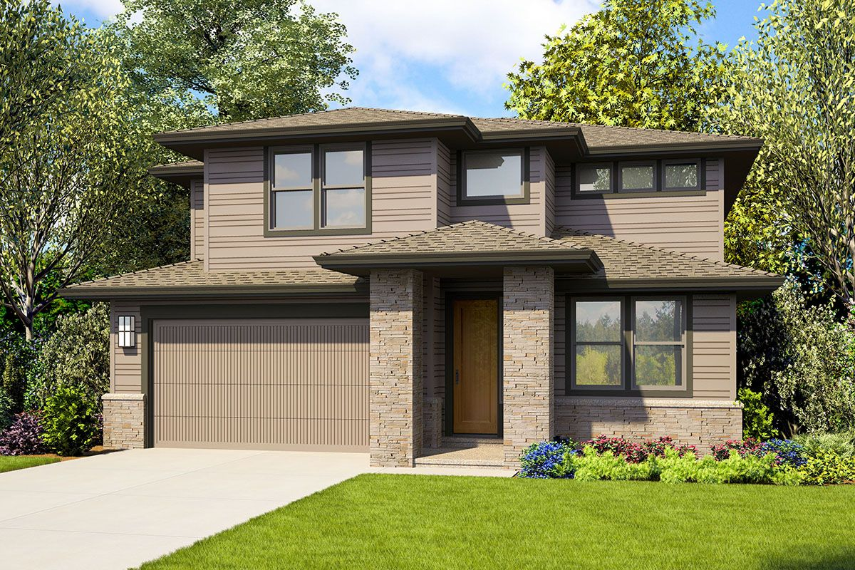 Plan 69724AM: Contemporary Two-Story House Plan with Bonus ...