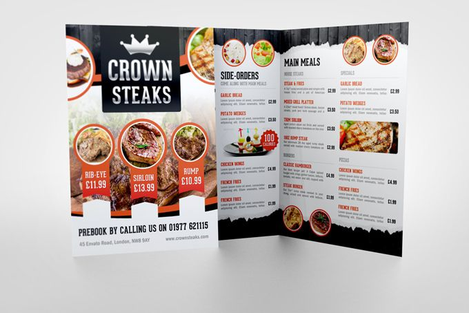 Half Fold Menu Mock-up Menu Pinterest Menu - half fold brochure template