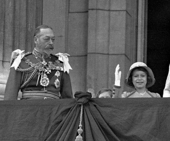 George V And His Granddaughter Princess Elizabeth