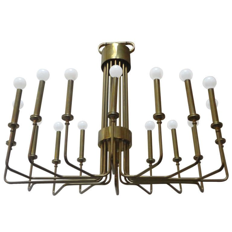 brass 16 arm chandelier by hart associates chandeliers and house