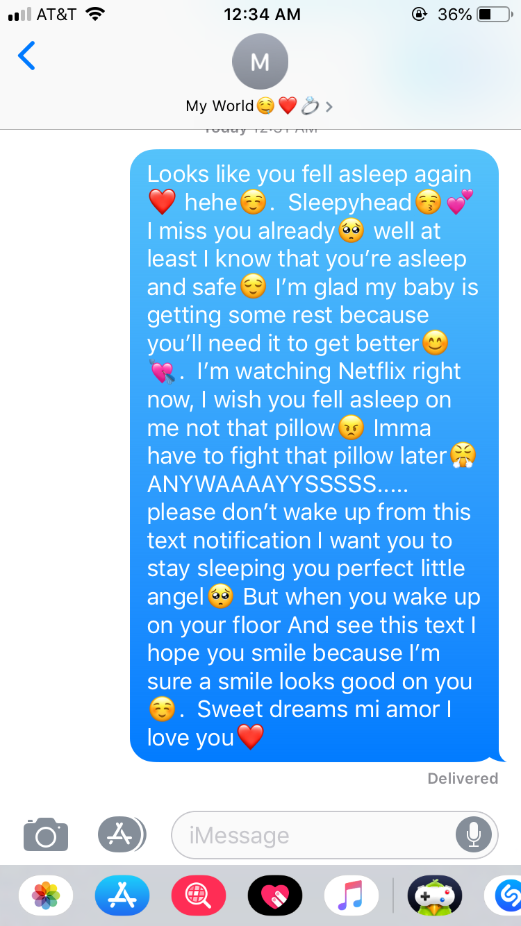 long paragraphs for him to wake up to