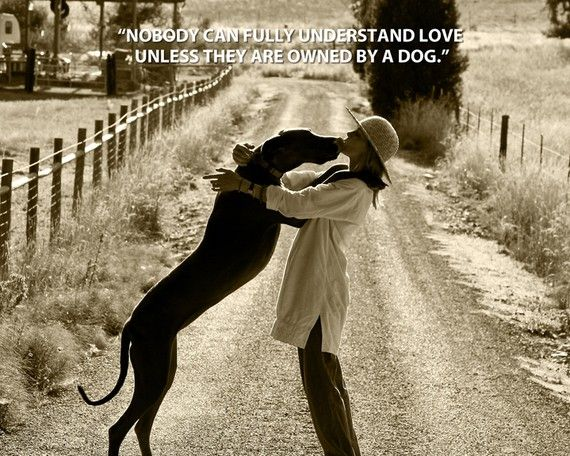 Woman And Dog With Quote 8 X 10 Print Animals Dogs Dog Quotes