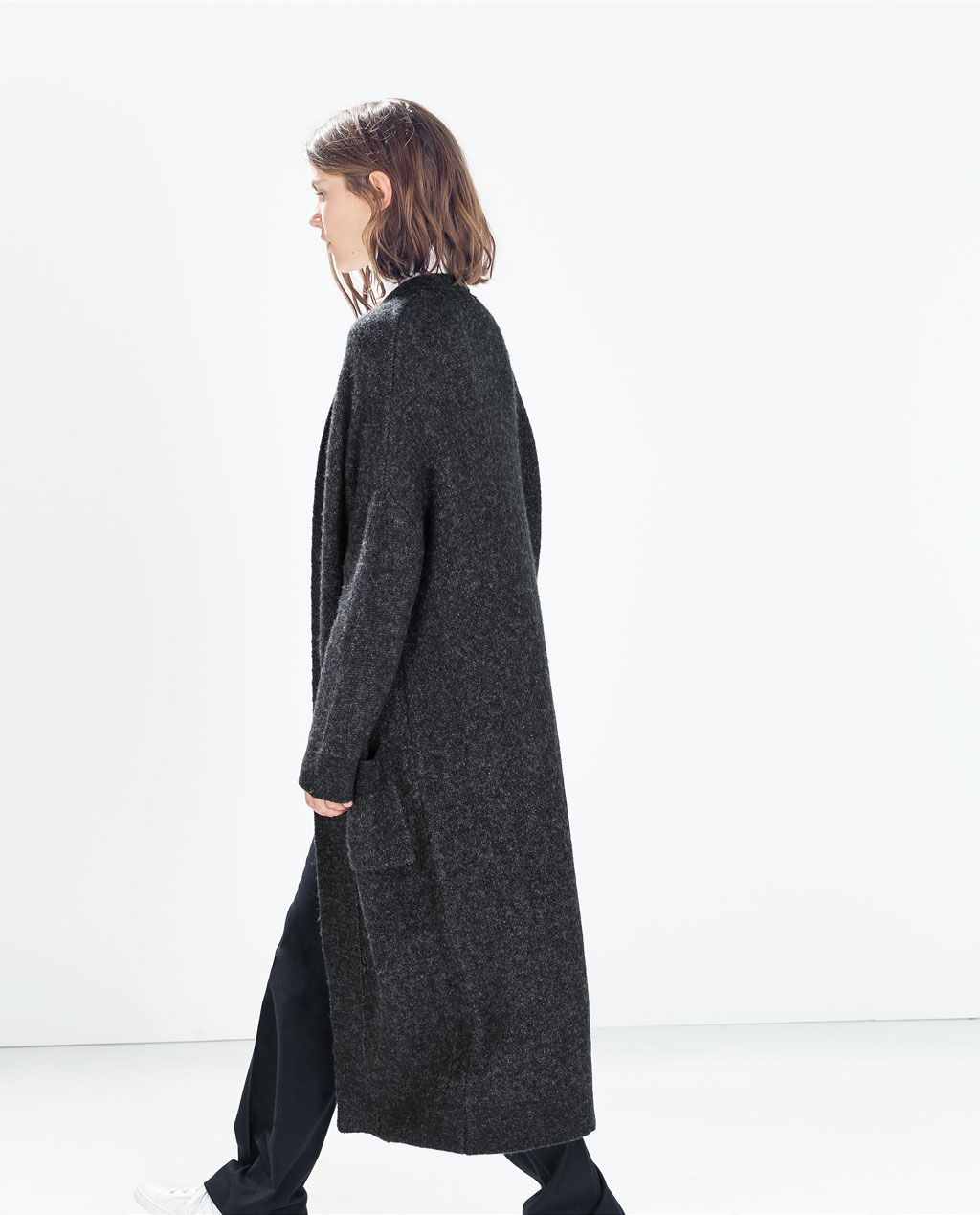 ZARA - NEW THIS WEEK - EXTRA-LONG CARDIGAN WITH POCKETS | Shopping ...