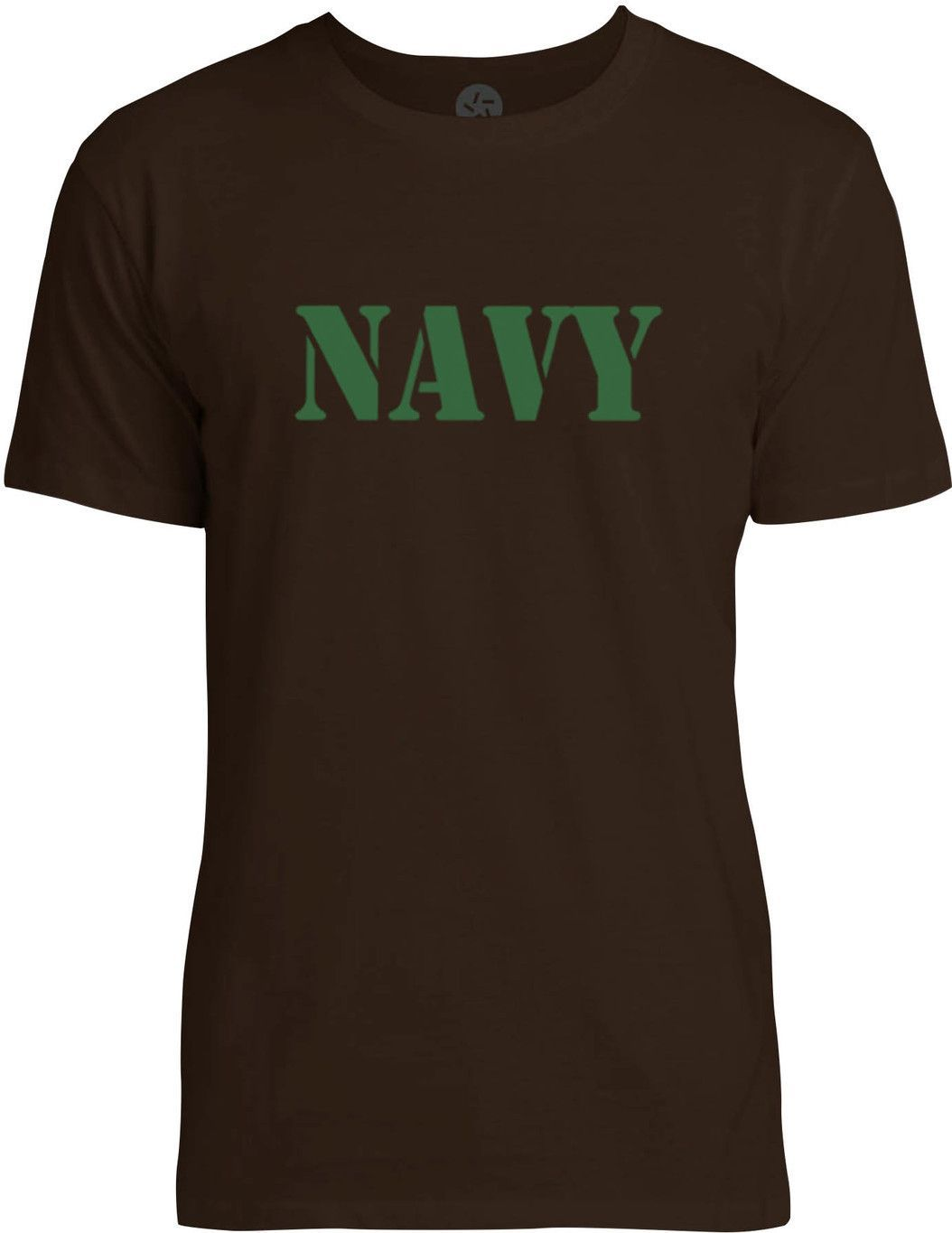 NAVY Stencil (Green) Mens Fine Jersey T-Shirt