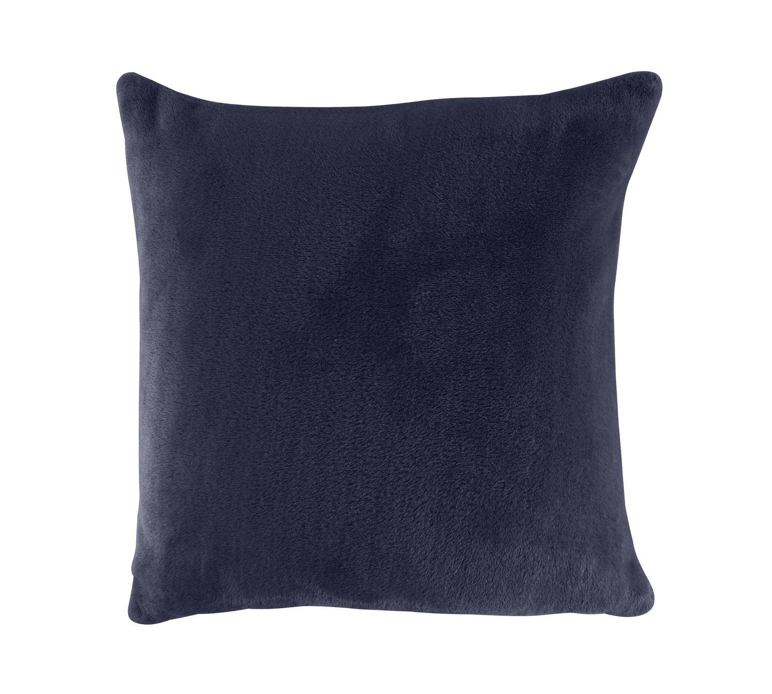 Buy Argos Home Supersoft Cushion Navy Cushions Argos