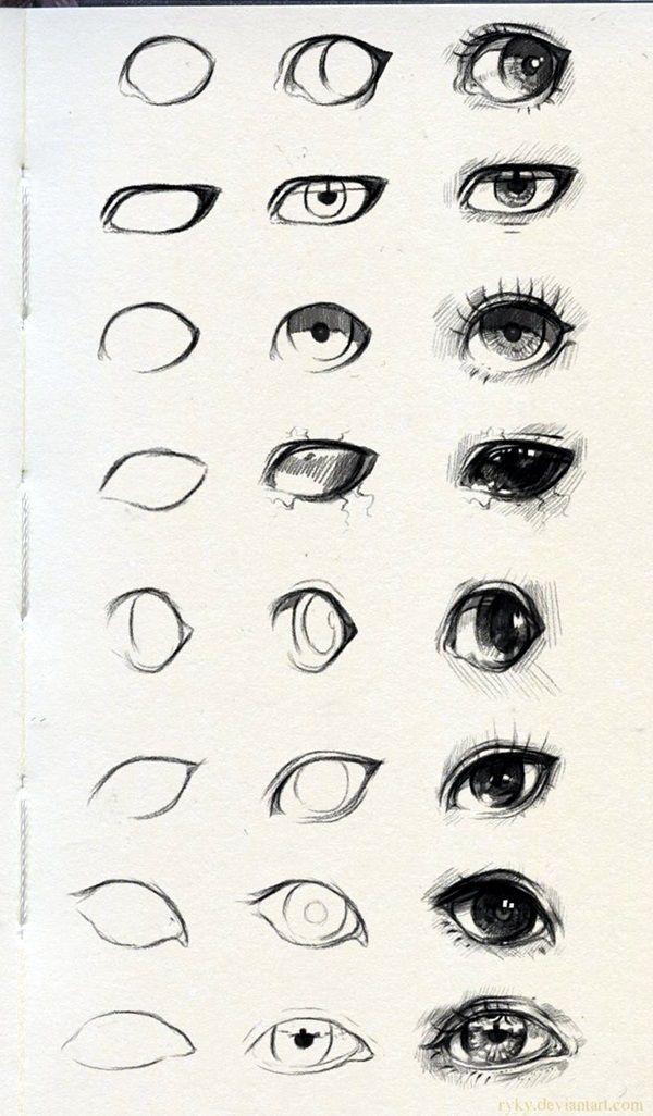 как рисовать глаз 40 удивительные урок