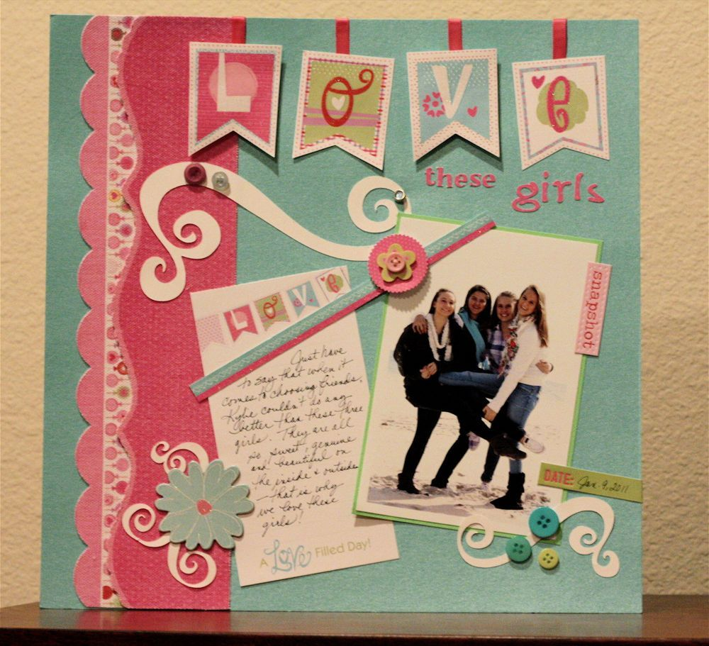 simple scrapbook layouts for beginners - google search | die cut