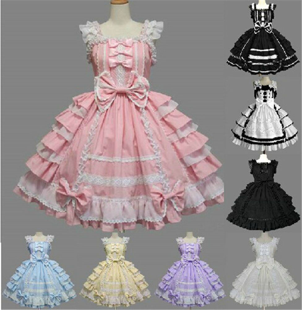 Prinzessin Gothic Classic Lolita Cosplay Kleider Party dress costume ...