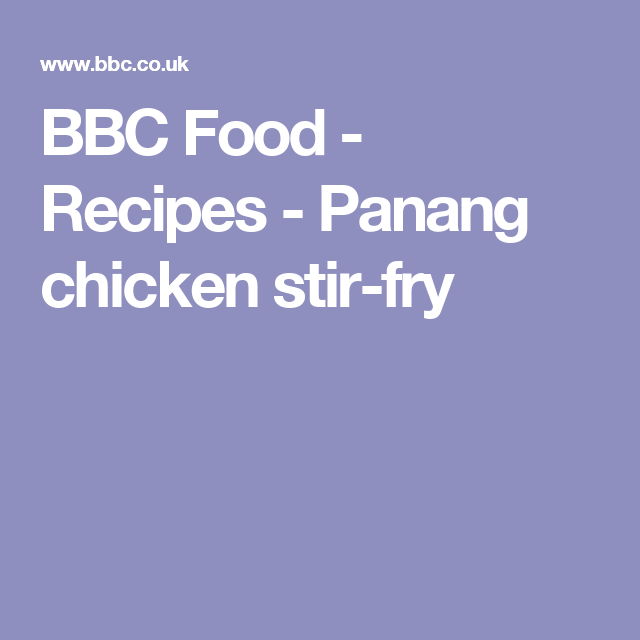 Panang chicken stir fry recipe chicken stir fry stir fry and panang chicken stir fry recipe chicken stir fry stir fry and recipes forumfinder Gallery
