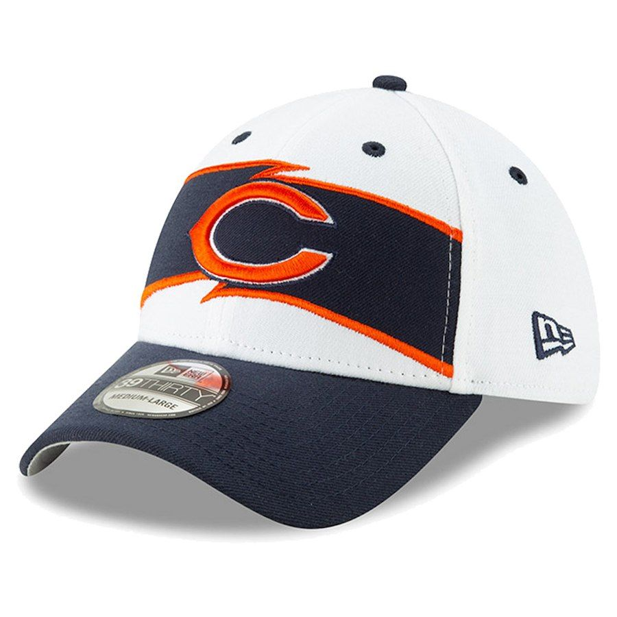7d39c1602f8ee7 Men's Chicago Bears New Era White/Navy Thanksgiving 39THIRTY Flex Hat, Your  Price: $31.99