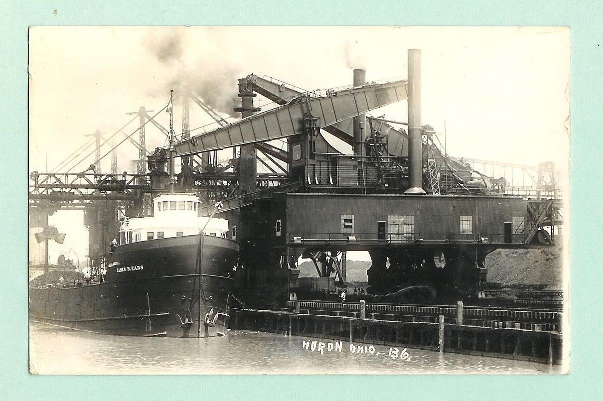 Freighter At Huron Docks