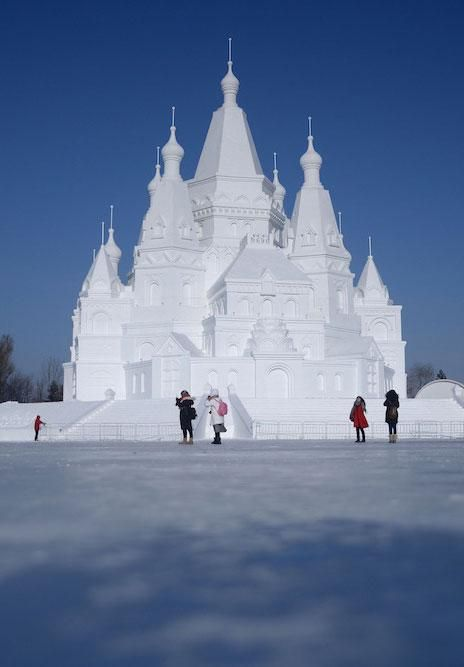 Snow sculpture from the Harbin International Snow and Ice Festival in China