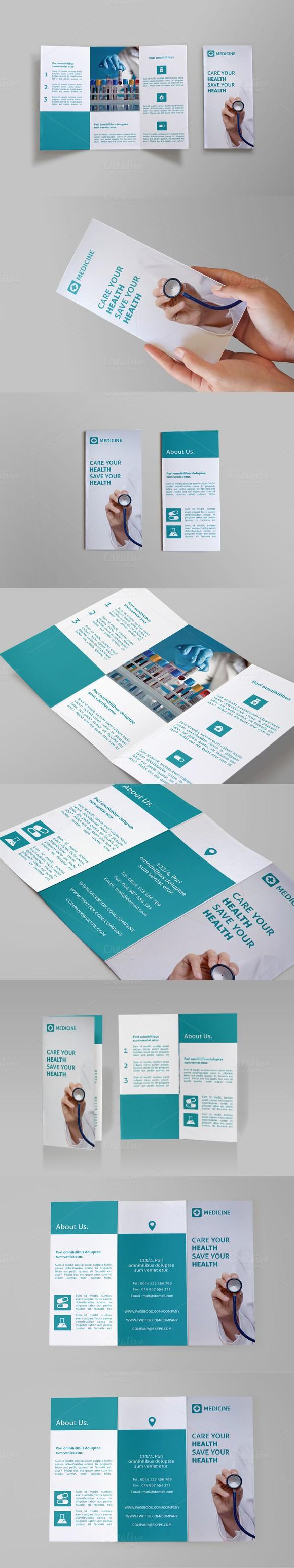 Medicine Tri-fold Brochure - Doc | Tri fold brochure, Tri fold and ...