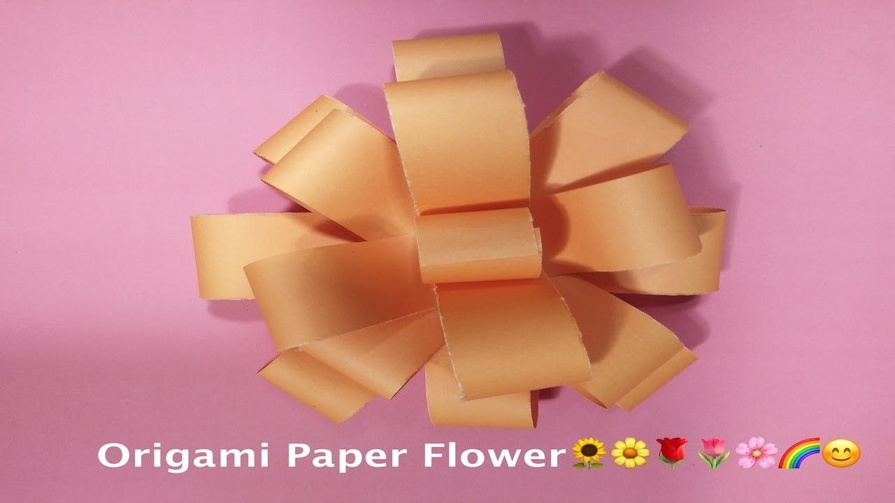 How To Make A Origami Paper Flower Pinterest Flower Paper