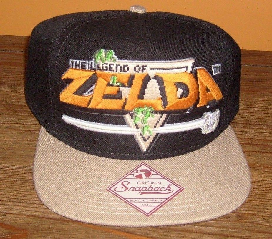 LEGEND OF ZELDA SWORD EMBROIDERED FLAT BRIM ORIGINAL SNAPBACK HAT NEW   Bioworld  BaseballCaptrucker e3296a02a86d