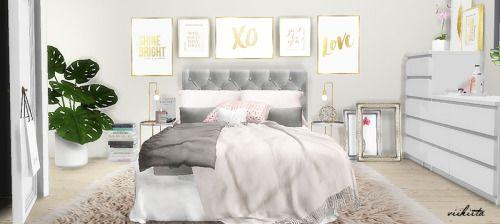 sims 4 cc 39 s the best kilburn bedroom rec by viikiita sims 4 cc 39 s the best innenarchitekt. Black Bedroom Furniture Sets. Home Design Ideas