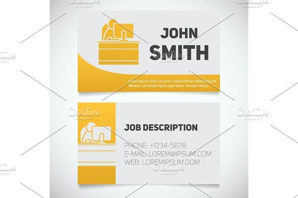 Business card print template with office manager logo print business card print template with office manager logo by icons factory on creativemarket wajeb Choice Image