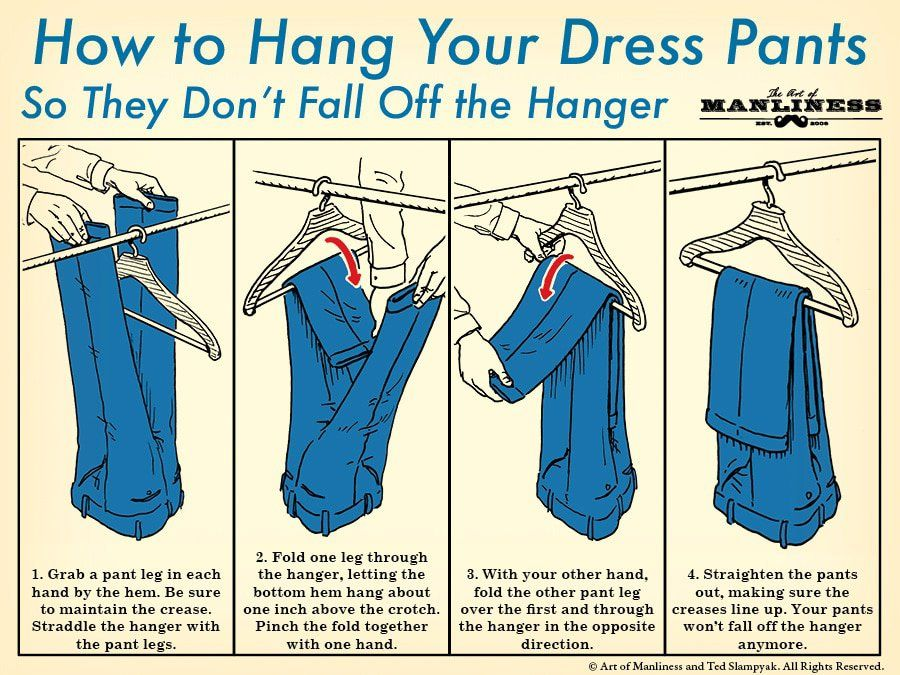 How To Hang Dress Pants On A Hanger Manly Stuff Pants