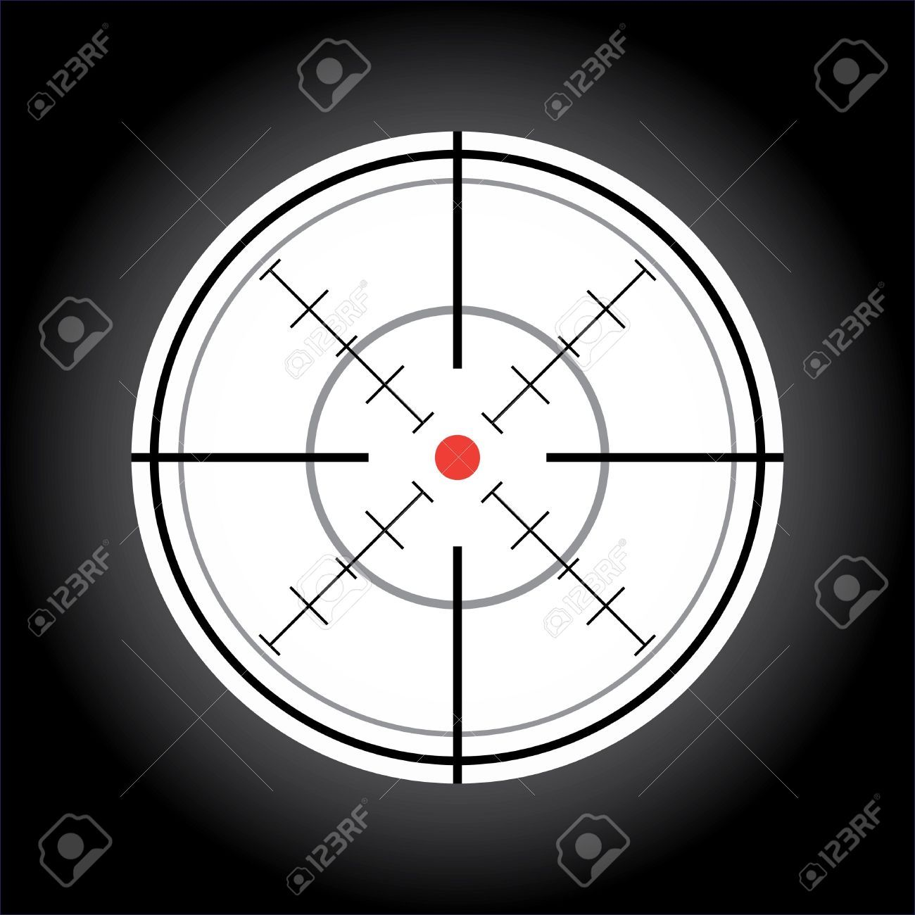 Crosshair With Red Dot Illustration Red Dots Illustration Red