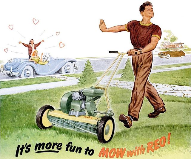 Pin by Alice Winter on 1950's suburban life | Vintage advertisements, Lawn  mower, Advertising