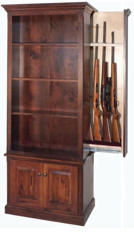 built in gun cabinet american winchester bookcase with gun safe guns 12666