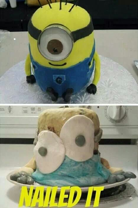 Nailed It Minion Cake Funny Kid Fails Funny Fails
