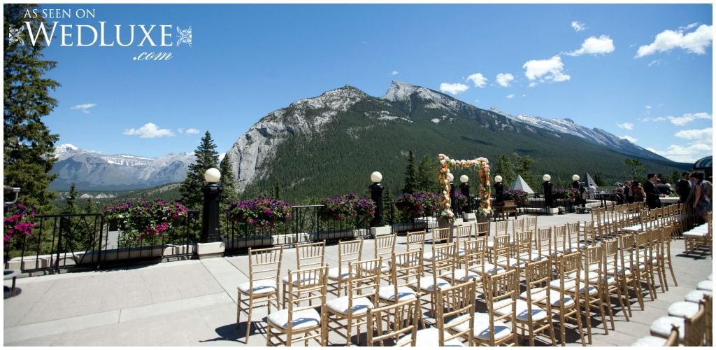 Outdoor Wedding Ceremony At The Fairmont Banff Spring