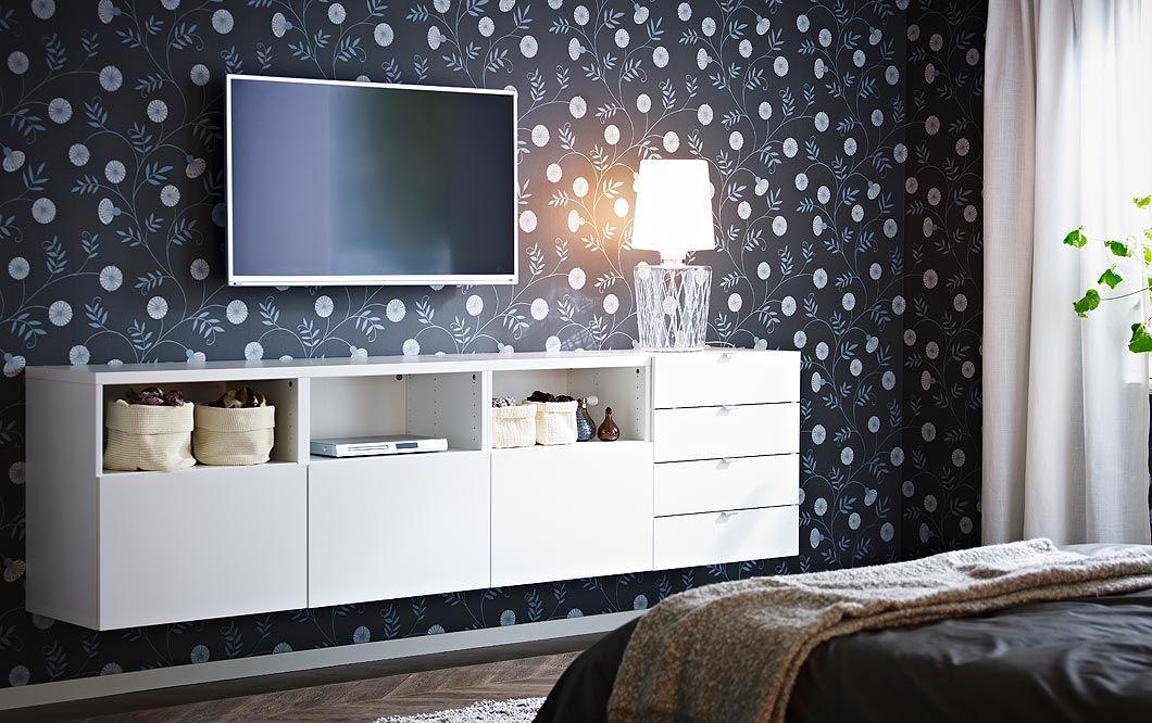 Combinazione BESTÅ bianca con mobile TV, ante e cassetti | HOME ...