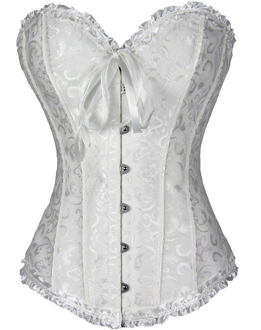 f8f930d687b AIZEN Corsets Sexy Women s Plus Size Corsets And Bustiers Overbust Gothic  Lace Strapless Brocade Corselet Clothing White Black