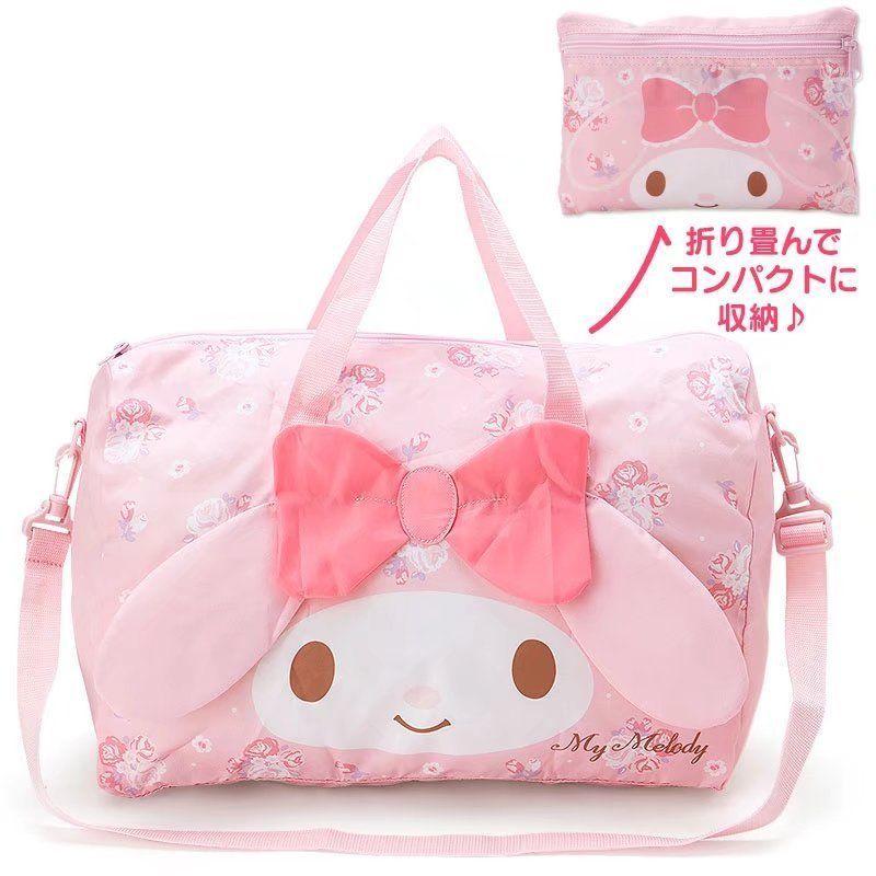 9e5eda6c31 My Melody Shoulder Bag Travelling Bag Fold Handbag Luggage Bag Big Spare  Anime Backpack Purse