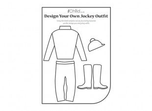Using this top, trousers, boots and hat template, your