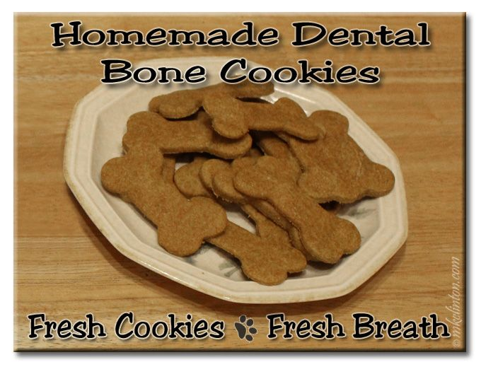 Homemade dental bone cookies on a plate. Fresh Cookies ~ Fresh Breath #recipe | Dog Treats | Pinterest | Dog, Doggies and Rawhide bones