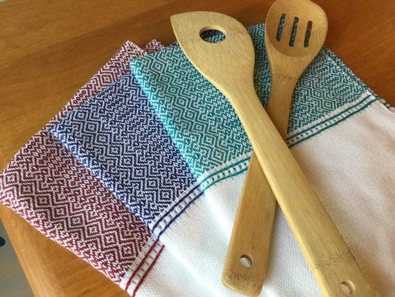 Stove top decoration - Best towels -  kitchen hand towels - handwoven - guest towels - woven kitchen towel - entitled Outside the Box