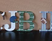 Vintage football nursery wall letters