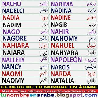Nombres De Sara Sergio Y Sonia En Arabe Para Tatuajes Nombres