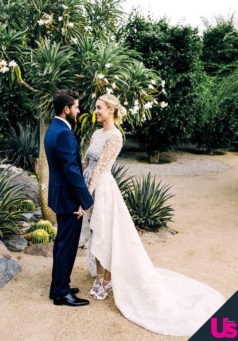 See Whitney Port S Stunning Wedding Album Whitney Port Wedding Hi Low Wedding Dress Bride