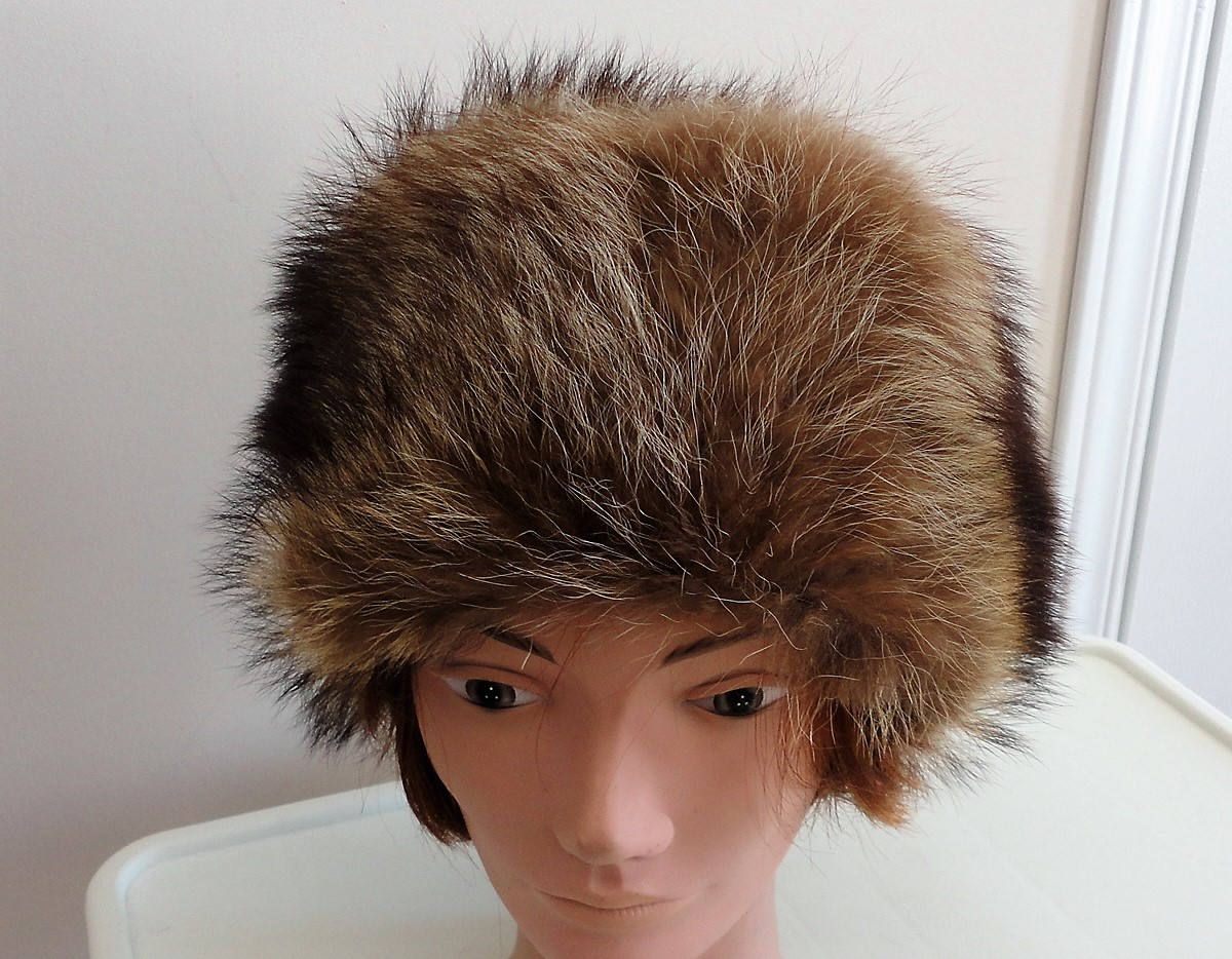 60s Raccoon Fur Women Hat 21.5 inches Small by LoukiesWorld on Etsy