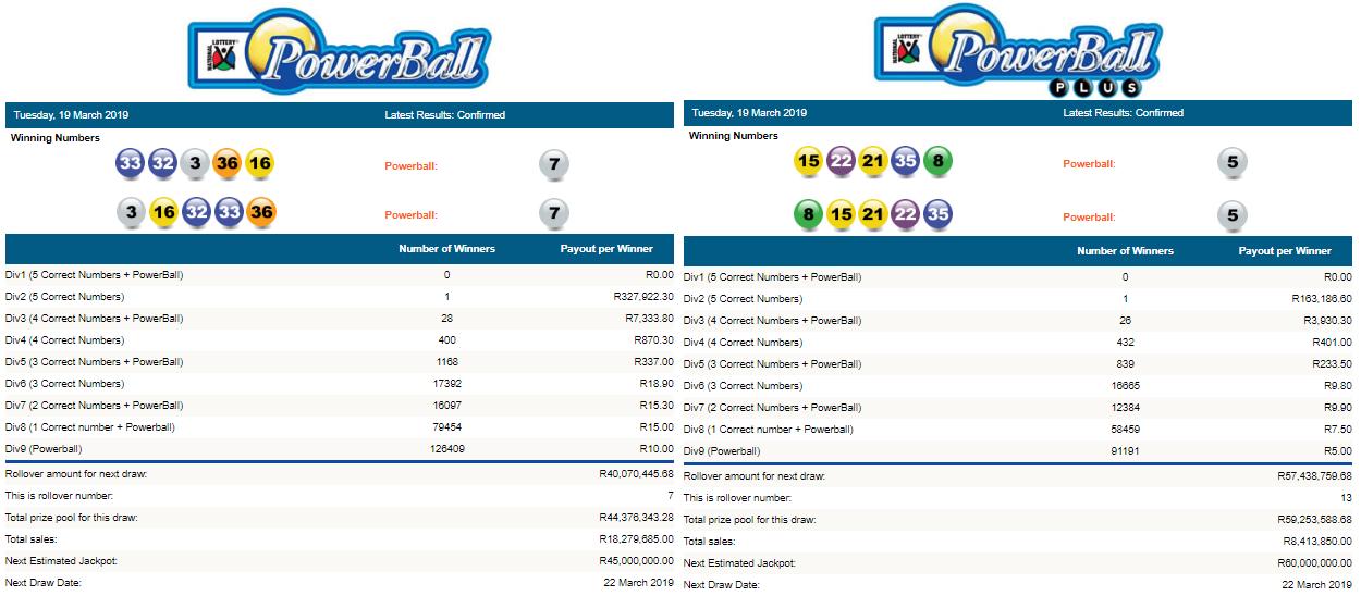 playcasino powerball results