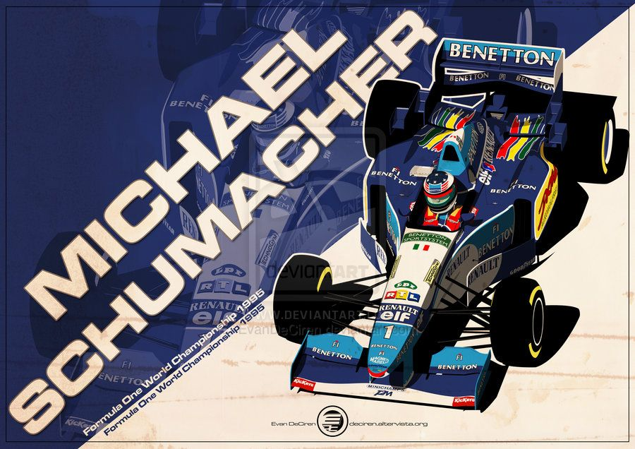 Fan Art Friday F1 Driver Artwork Wtf1 Vintage Racing Poster Michael Schumacher Racing Posters