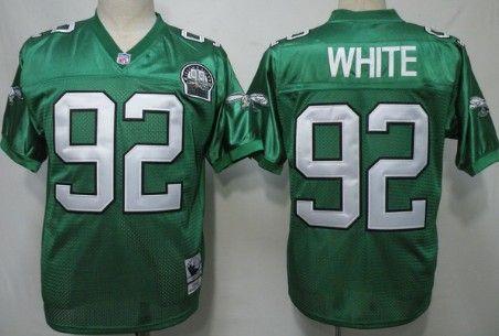 reputable site f66c0 999e6 Philadelphia Eagles #92 Reggie White Light Green Throwback ...