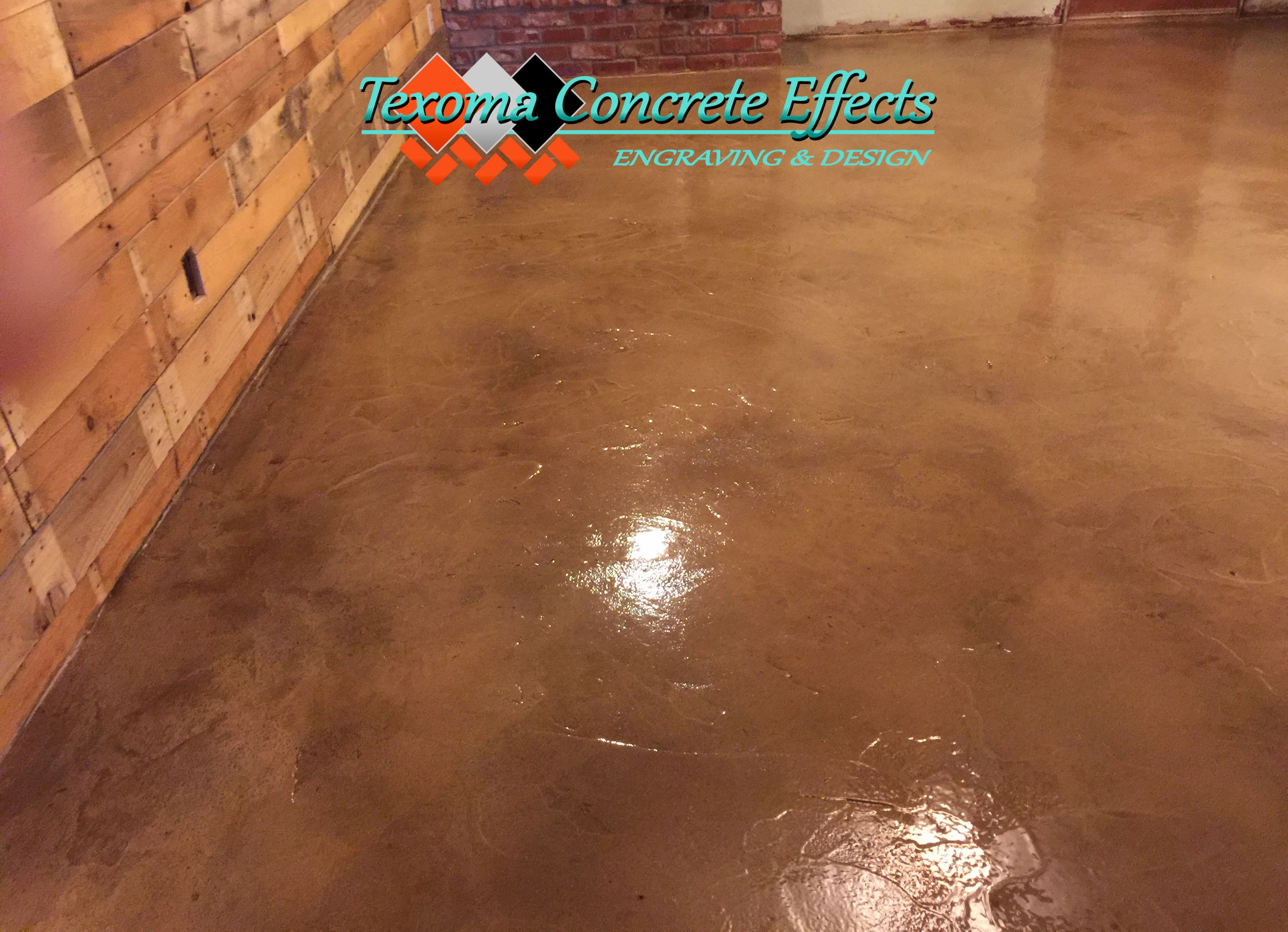 Stained Concrete Overlay By Texoma Concrete Effects Wichita Falls Tx Stained Concrete Concrete Concrete Overlay