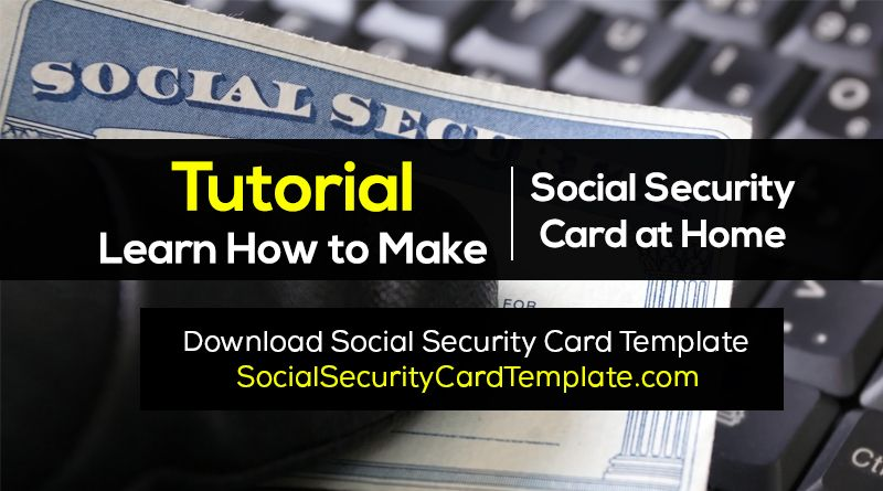 How To Make Fake Social Security Card Ssc Generator Social Security Card How To Make Card Template