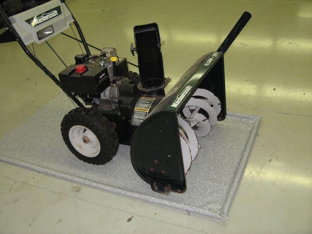 Snowblower Mat and Lawnmower Mat Garage floor mats, Lawn