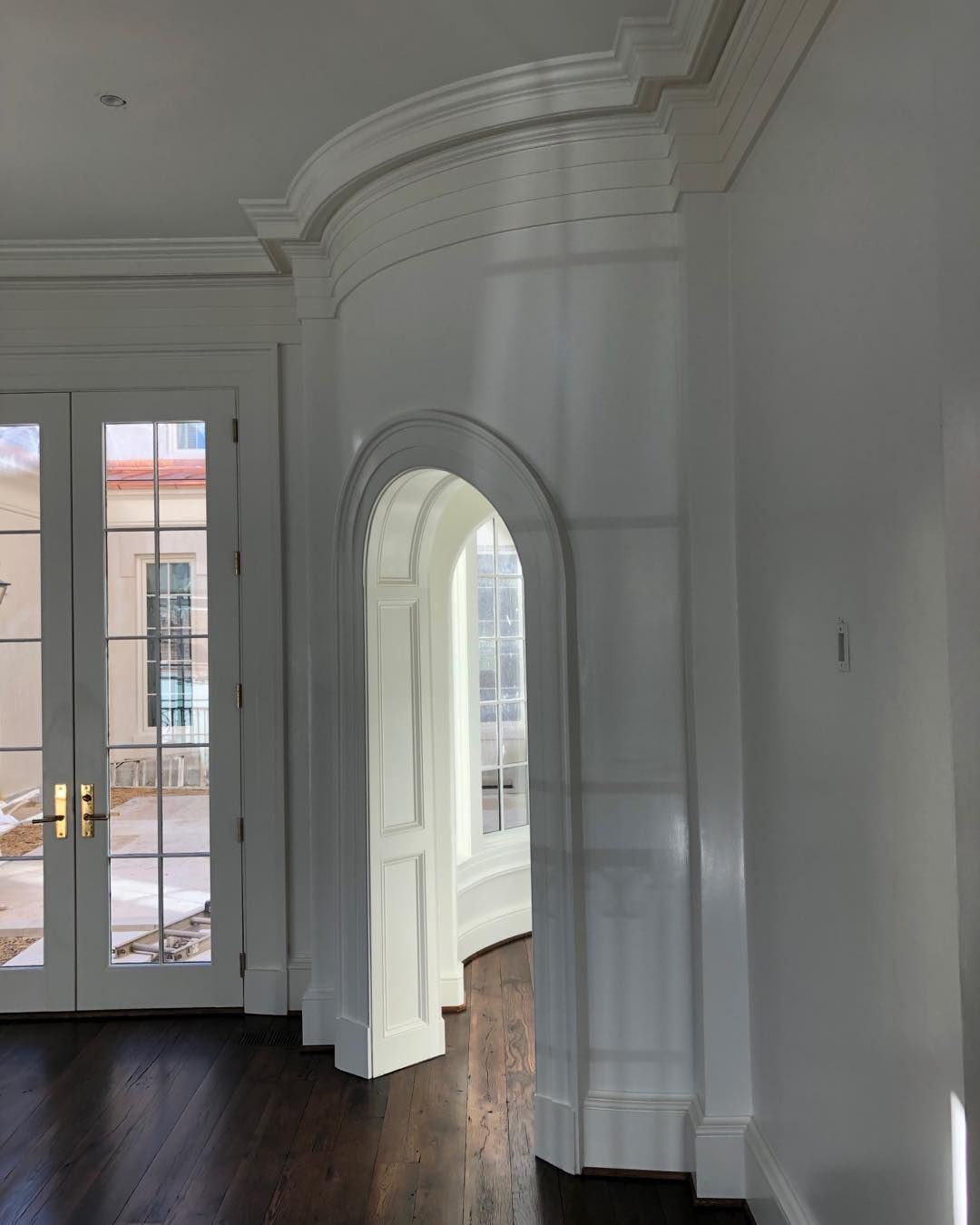 James Dunn On Instagram Making These Compound Curved Wall And Arch Top Cased Opening Were A Challenge But The End Result Was Perfect Curved Walls Design Wall