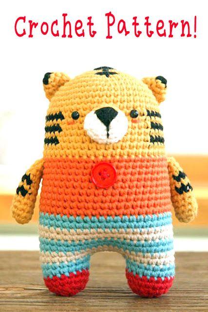 Amigurumi Tiger Crochet Pattern Crochet Crazy Pinterest