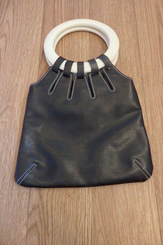 Women S Jane Norman Black White Small Handbag Janenorman Eveningbags